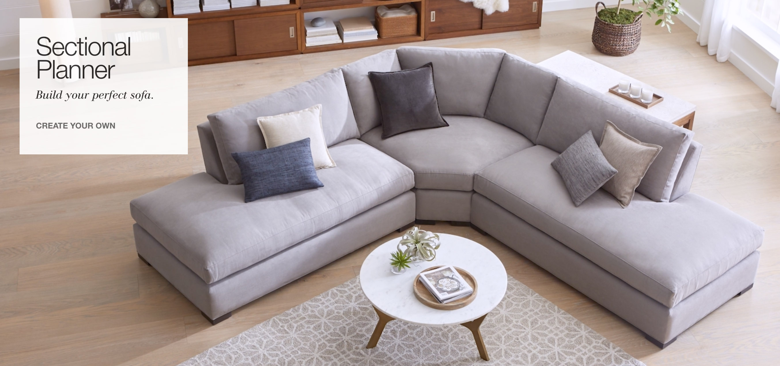 Introducing the sectional planner build the perfect sectional sofa